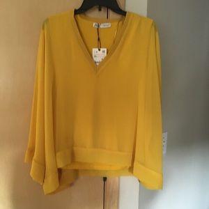 Xxl yellow Zara top